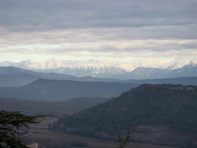 les Alpes depuis Forcalquier_1837